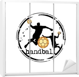 Sticker pour armoire Timbre handball