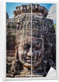 Sticker pour armoire Visage de Bayon, Angkor, Cambodge