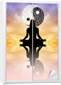 Sticker pour armoire Yin yang