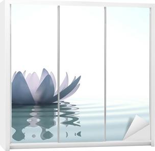 Sticker pour armoire Zen fleur loto dans l'eau