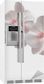 Sticker pour frigo Blanc fleurs d'orchidée