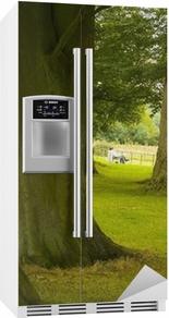 Sticker pour frigo Broadway pays parquer le Worcestershire Cotswolds