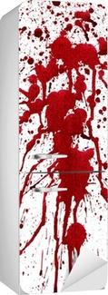 Sticker pour Frigo Éclaboussures sanglantes