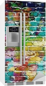 Sticker pour frigo Graffiti mur de brique