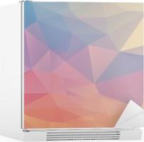 Sticker pour Frigo Polygone coloré