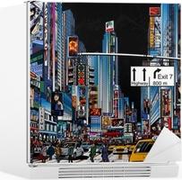 Sticker pour Frigo Rue à New York