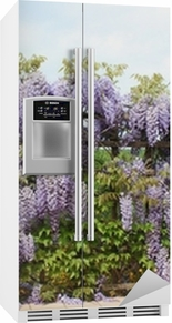 Sticker pour frigo Terrasse avec glycine