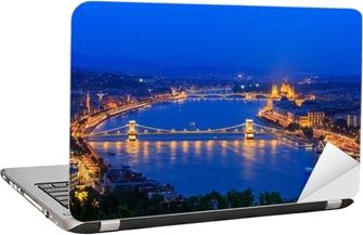 Sticker pour ordinateur portable Danube. Budapest. Hongrie