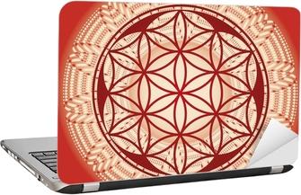 Sticker pour ordinateur portable Fleur de mandala de graines de vie