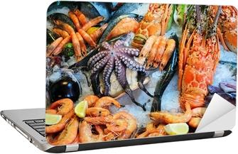 Sticker pour ordinateur portable Fruits de mer frais