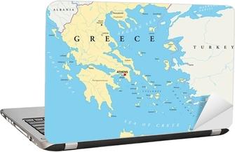 Sticker pour ordinateur portable Griechenland landkarte