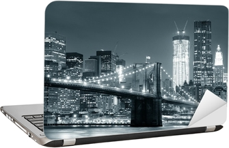 Sticker pour Ordinateur Portable New york city brooklyn bridge