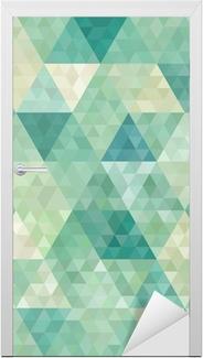 Sticker pour porte Arrière-plan transparent avec ornement géométrique abstrait