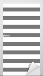 Sticker pour porte Blanc et gris rayé