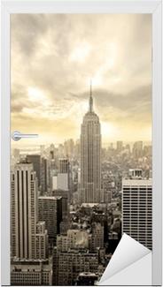 Sticker pour Porte Ciel nuageux sur Manhattan