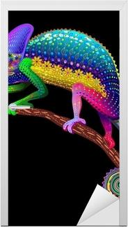 Sticker pour porte Couleurs Chameleon Fantaisie arc-