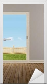 Tableau Sur Toile Fenêtre Coulissante Fermée Dans Une Chambre Vide U2022  Pixers®   Nous Vivons Pour Changer