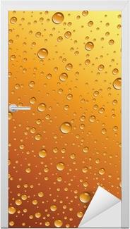 Sticker pour porte Gouttes d'eau sur la bière