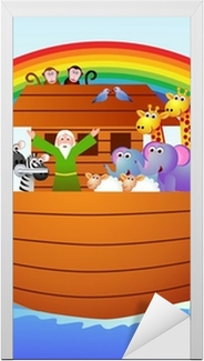 Sticker pour porte L'arche de noé