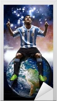 Sticker pour porte Leo Messi