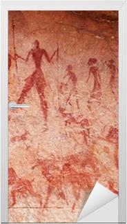 Sticker pour porte Les peintures rupestres du Tassili N'Ajjer, en Algérie