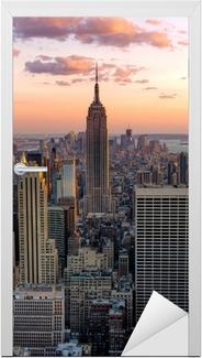 Sticker pour porte New York Empire State Building