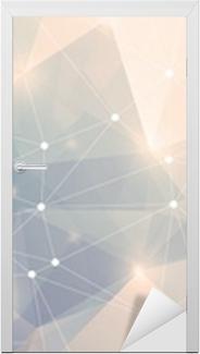 Sticker pour porte Polygon Panorama