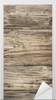 Sticker pour porte Texture de bois