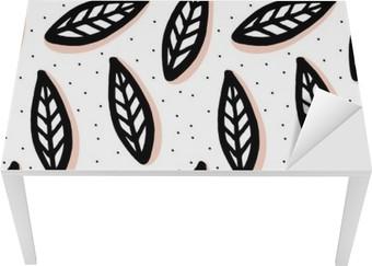 Sticker pour Table et Bureau Abstract seamless pattern dans le style scandinave.