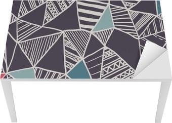 Sticker pour Table et Bureau Abstract seamless pattern doodle