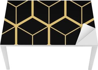 Sticker pour table et bureau Abstrait géométrique. maillage hexagonal avec des cellules incorporées. illustration vectorielle transparente. motif répétitif rythmique. style moderne pour les modèles géométriques
