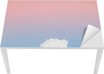 Sticker pour table et bureau doux nuage et le ciel avec dégradé de
