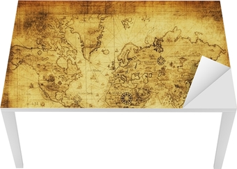 Sticker pour table et bureau Ancienne carte du monde.
