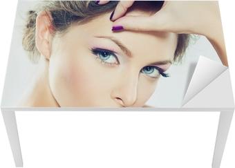 Sticker pour table et bureau rose maquillage u2022 pixers® nous vivons