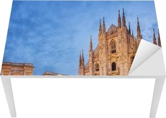 Sticker pour table et bureau Cathédrale de Milan, Italie