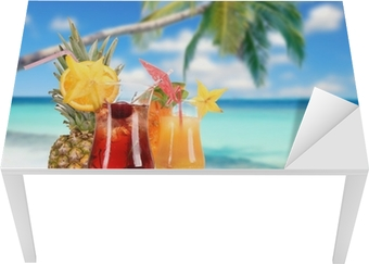 Sticker pour table et bureau Cocktails sur la plage