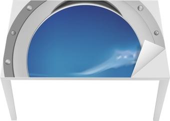 Sticker pour table et bureau Fenêtre de navire