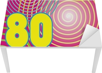 Sticker pour table et bureau Fond Années 80 rumikub