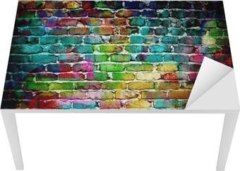 Sticker pour table et bureau Graffiti mur de brique