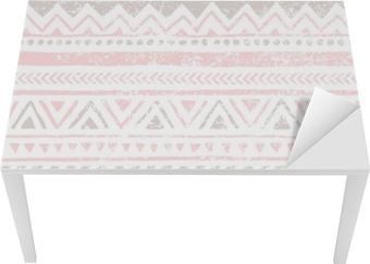Sticker pour table et bureau Modèle vintage sans soudure. texture grungy. Moti ethnique et tribal