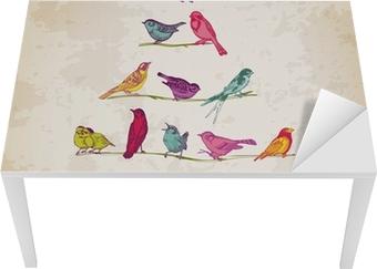 Tableau sur toile rtro carte de nol oiseaux sur arbre de nol tableau sur toile rtro carte de nol oiseaux sur arbre de nol pour l invitation pixers nous vivons pour changer stopboris Image collections