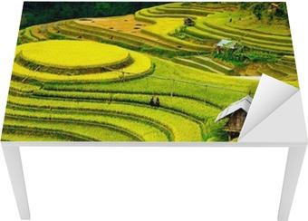 Sticker pour table et bureau Rizières en terrasses au vietnam