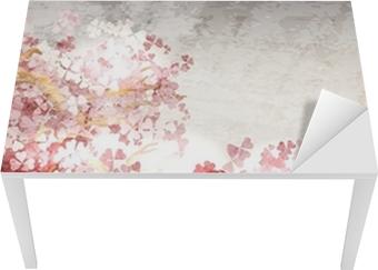 Sticker pour table et bureau Sakura branche floraison