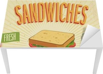 Sticker pour table et bureau Sandwiches affiche vintage. Vector illustration.