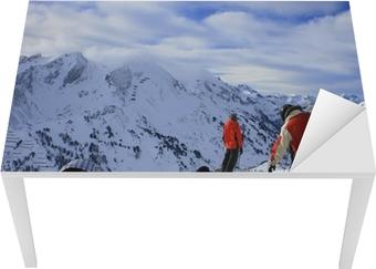 Sticker pour table et bureau Snowboarder