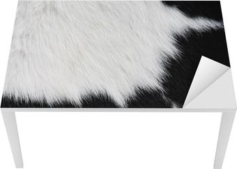 Tableau sur toile vache fourrure peau en noir et blanc fond ou de