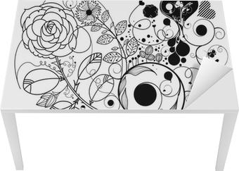 Sticker pour table et bureau Vintage fleur-amour