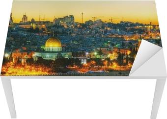 Sticker pour table et bureau Vue d'ensemble de la vieille ville de Jérusalem, Israël
