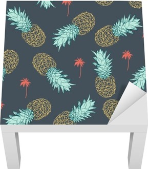 Sticker pour Table Lack Ananas seamless