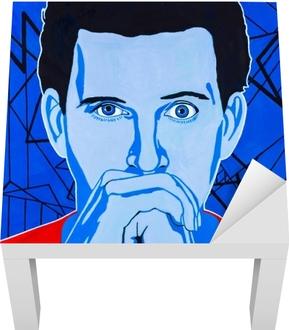 Poster Art moderne peinture de portrait abstrait d'un jeune homme aux  prises avec une épiphanie. • Pixers® - Nous vivons pour changer